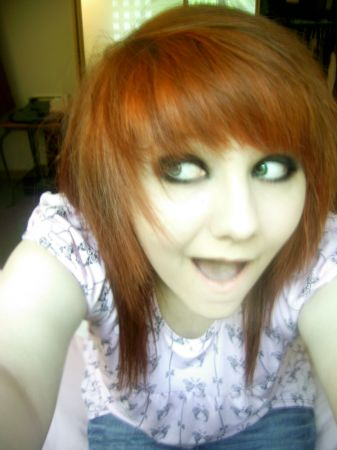 me my red hair which later turned out ginger   me