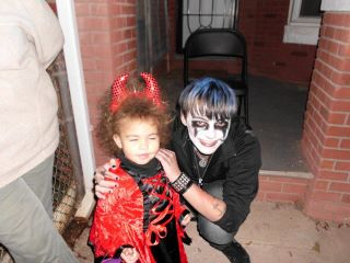 Me nd my cousin on halloween!