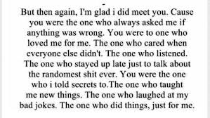 I sorta miss you