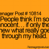 People think I Am innocent..