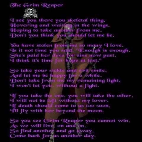 My grim reaper poem