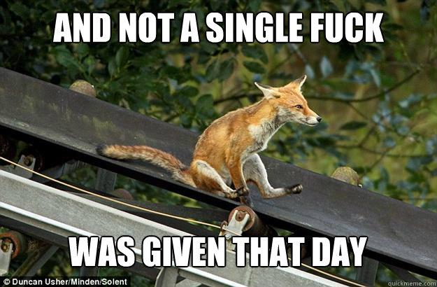 Fox Not caring
