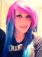 Pink and blue c: